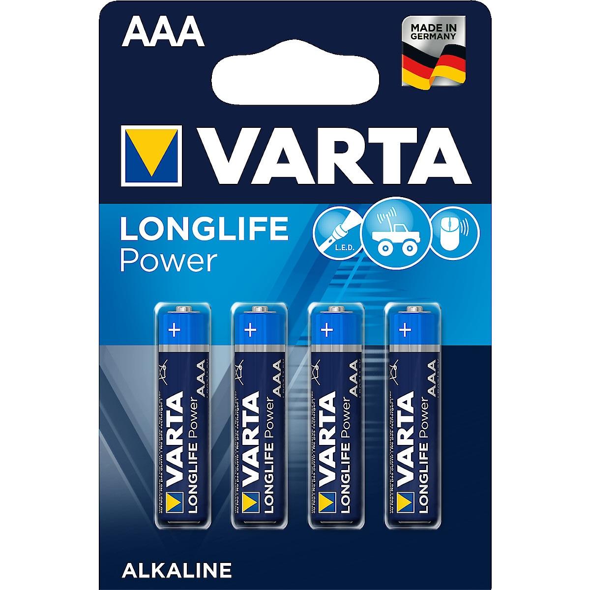 Alkaliskt batteri AAA/LR03 Varta Longlife Power