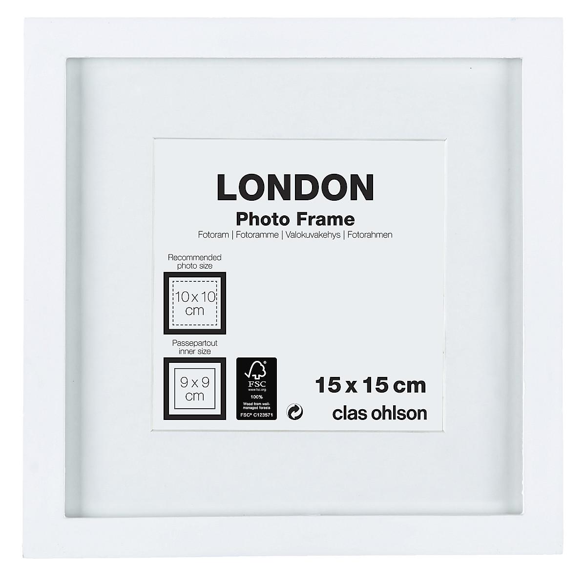 Fotoram London vit