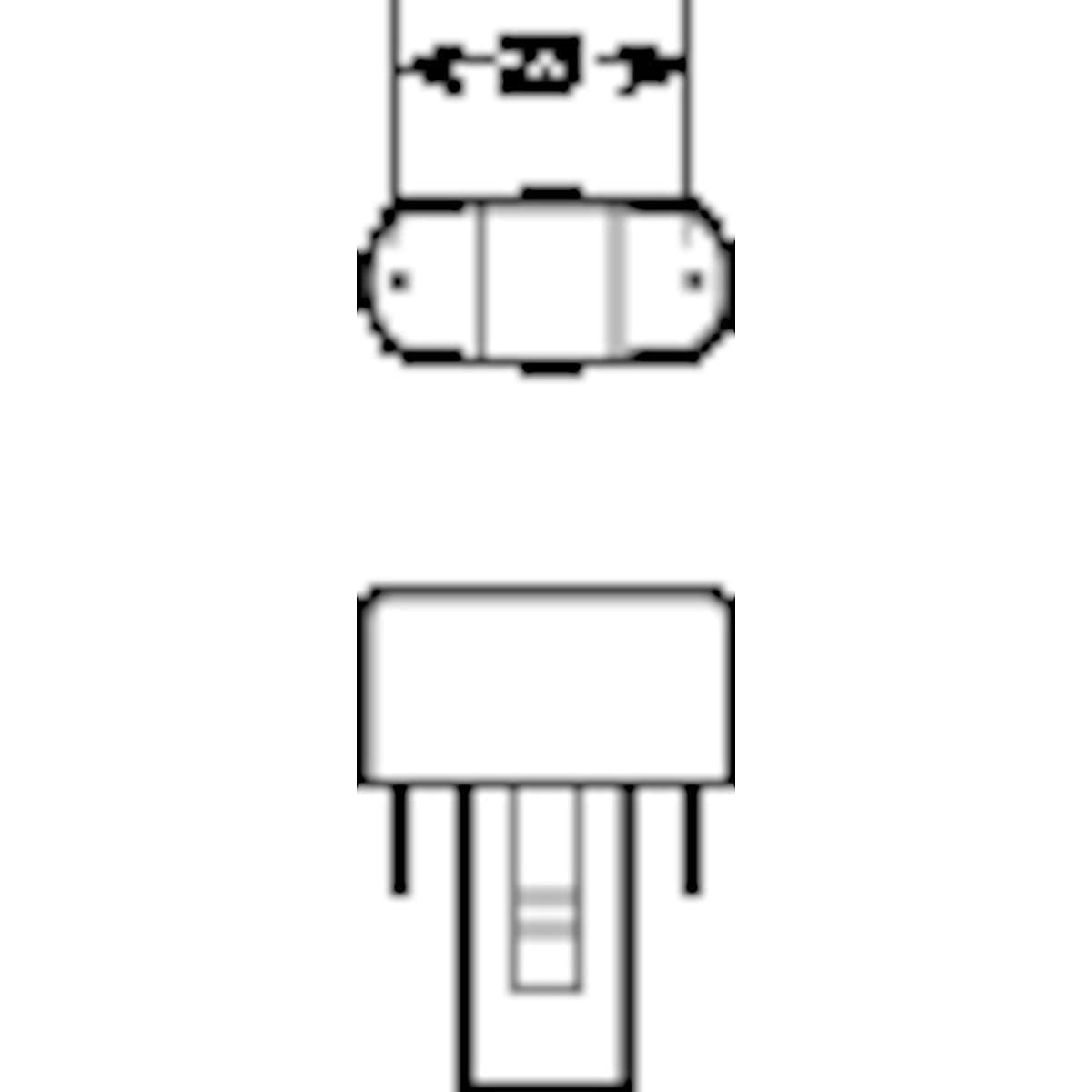 Kompaktlysrör 827 G23 Osram
