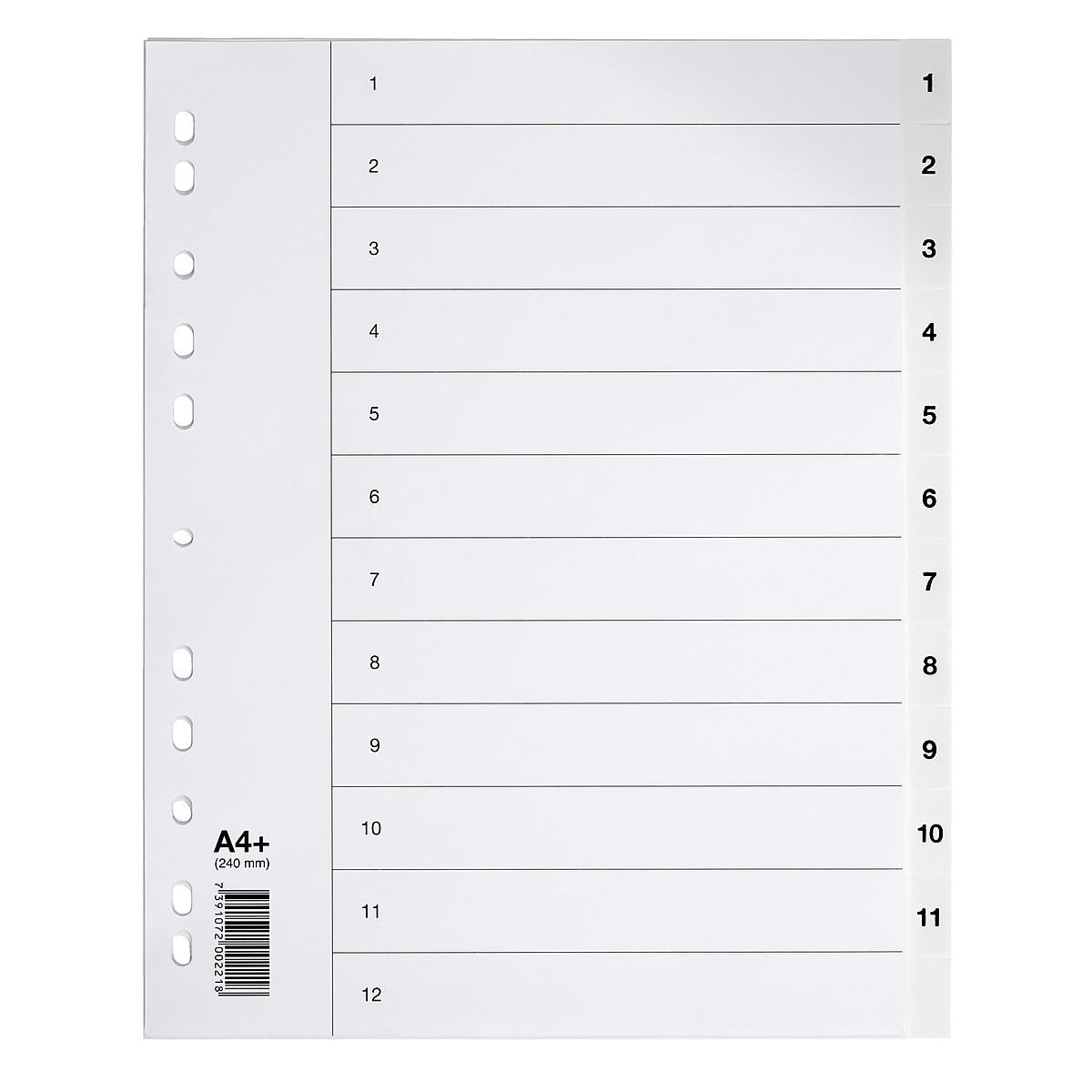 Pärmregister A4+ 1-12