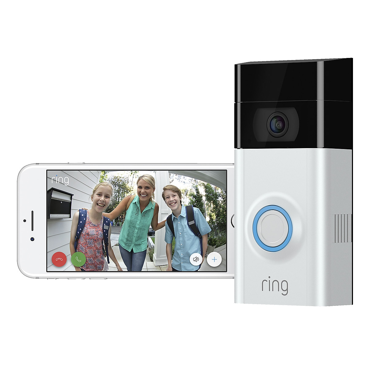 Ring Video Doorbell 2, dørklokke med kamera.