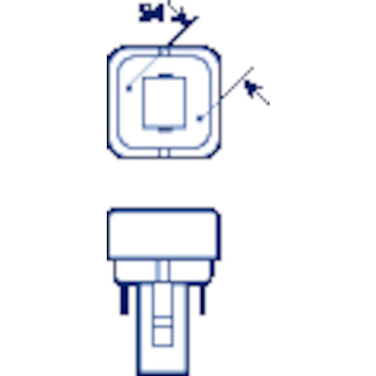 Kompaktlysrör 827 G24D-1 Osram
