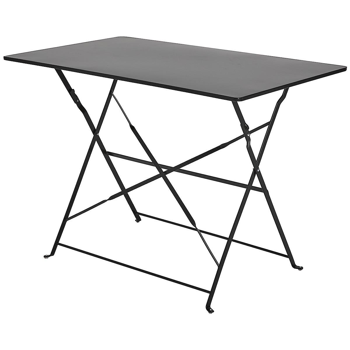 Hopfällbart bord, utemöbler metall | Clas Ohlson