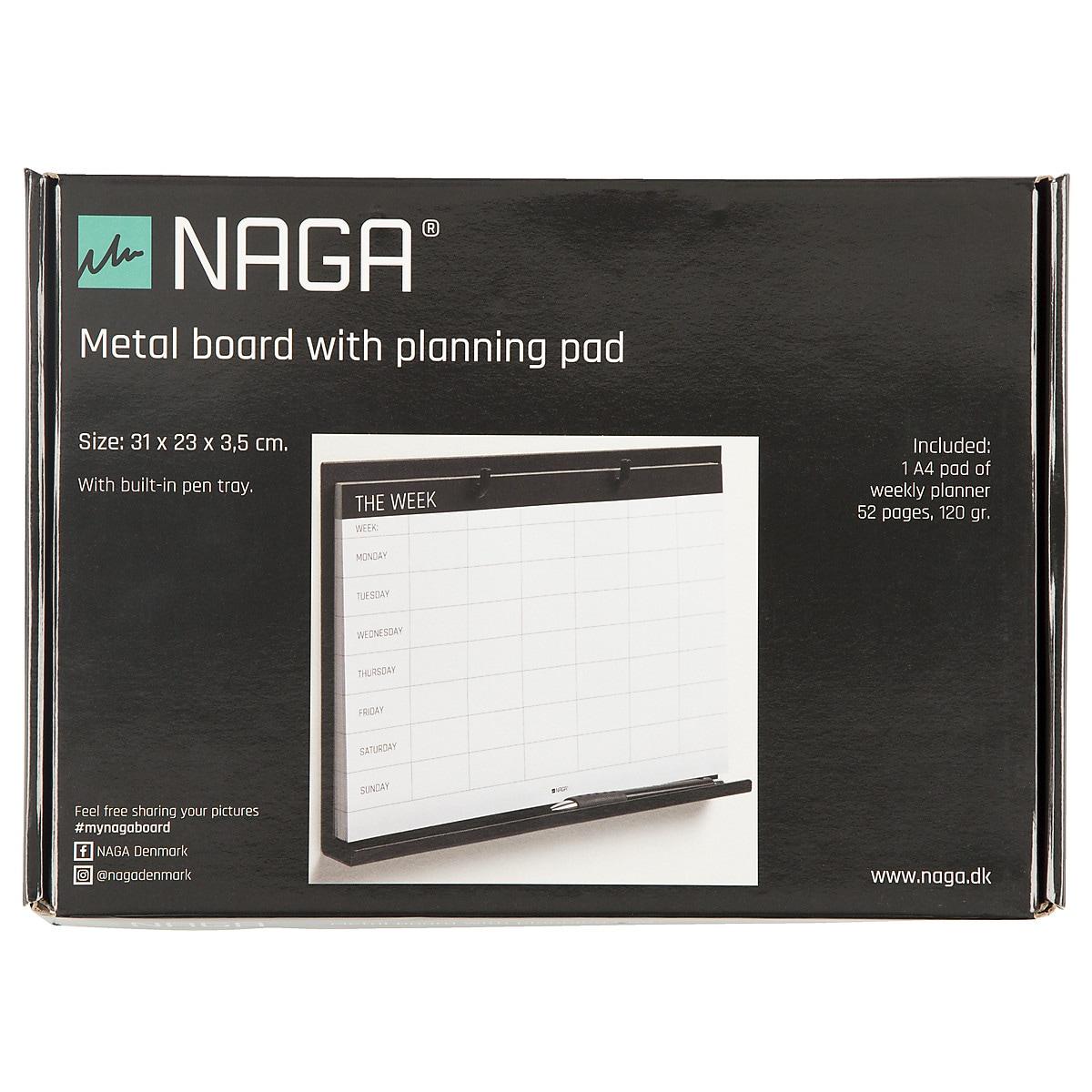 Viikkosuunnitelma, jossa metallinen pidike, Naga