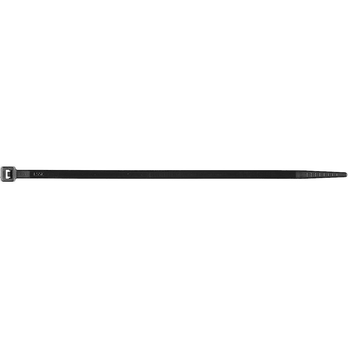 Kabelbinder schwarz, 100er-Pack