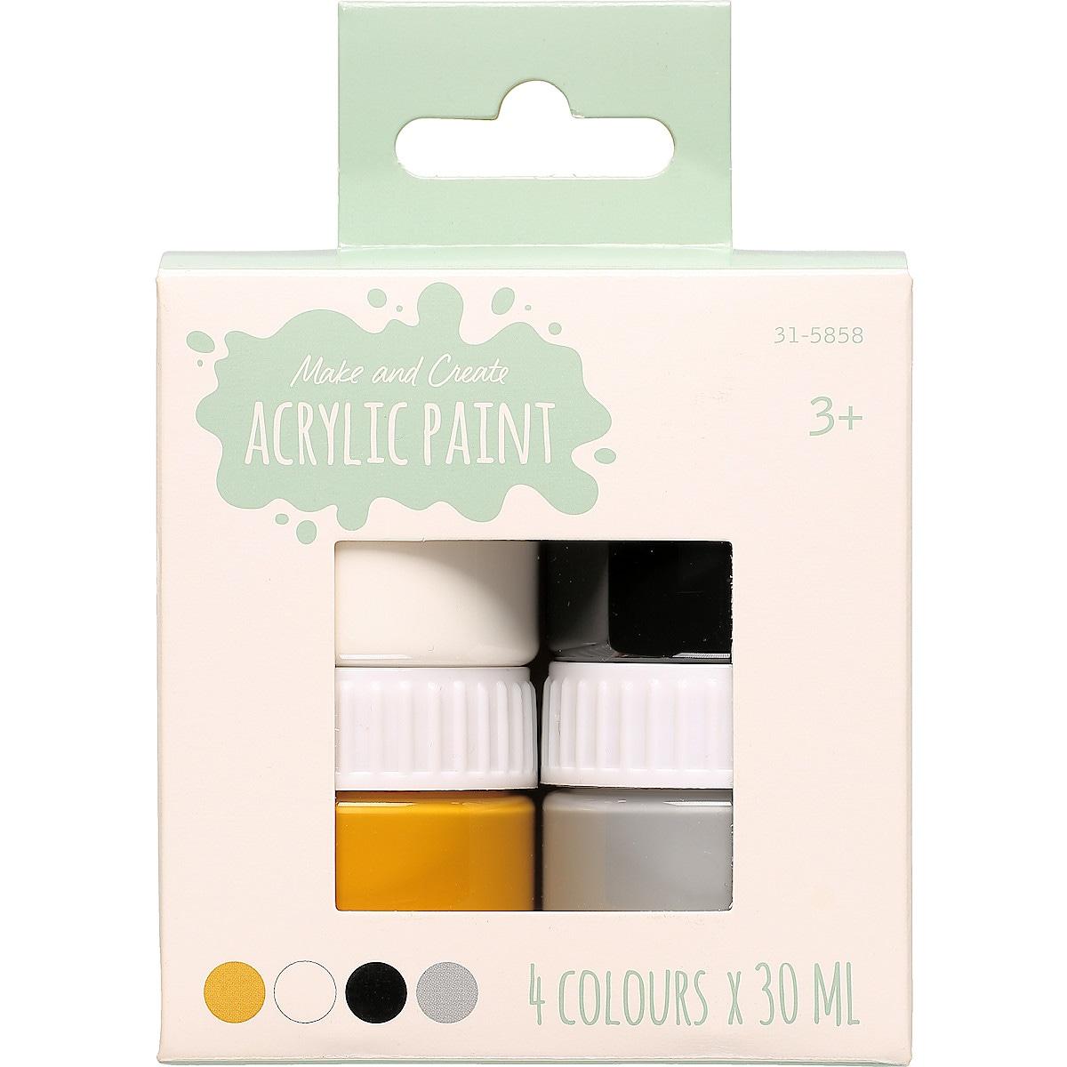 Akrylfärg 4-pack