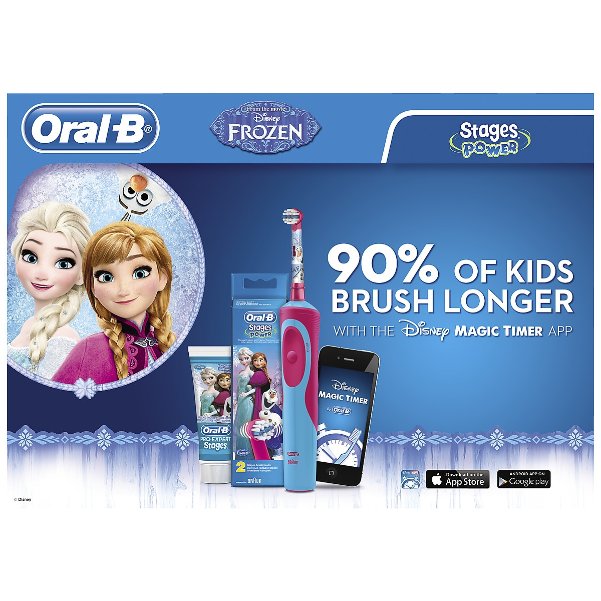 Harjapää Oral-B Stages Power Kids