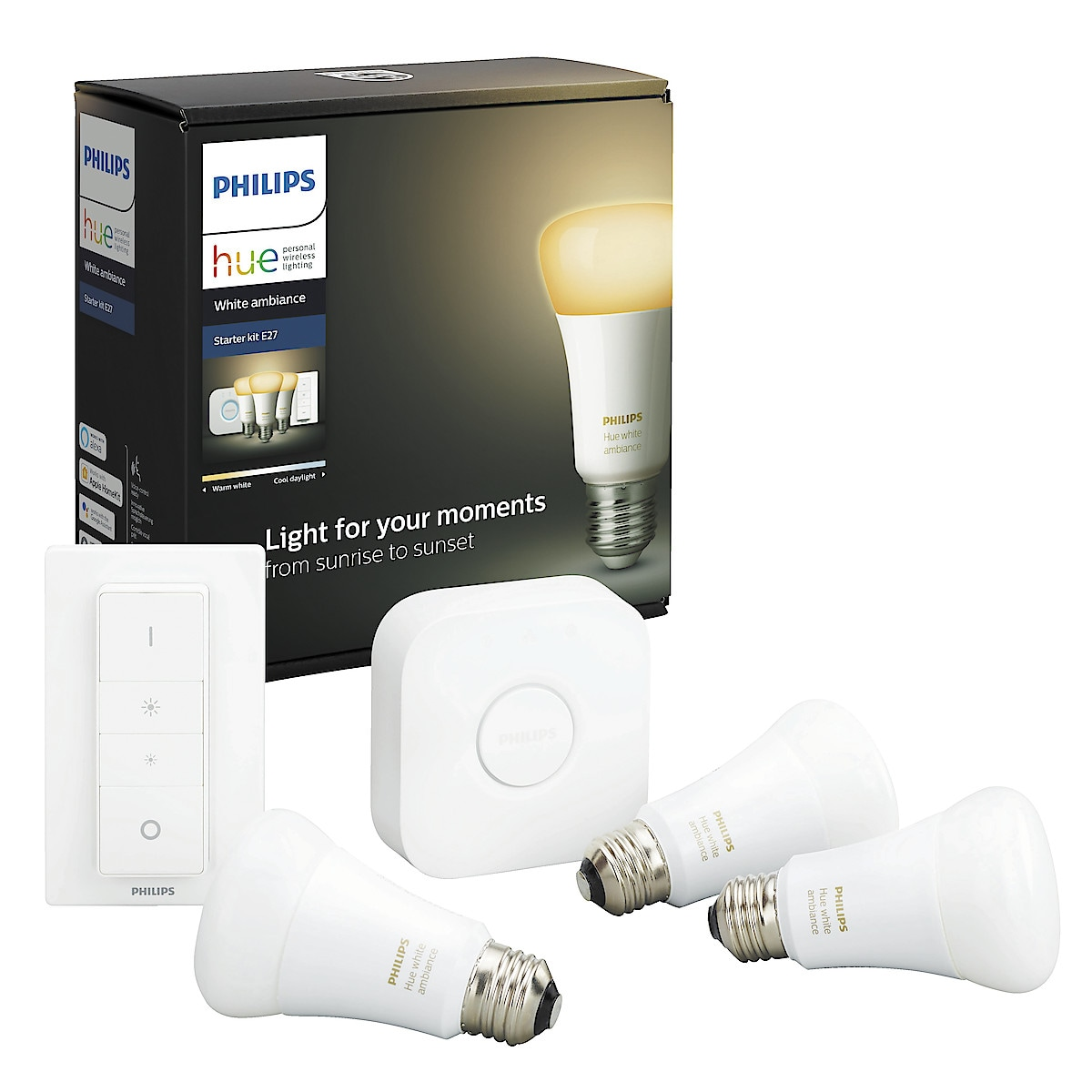 Philips Hue White Ambiance startpaket E27 Bluetooth