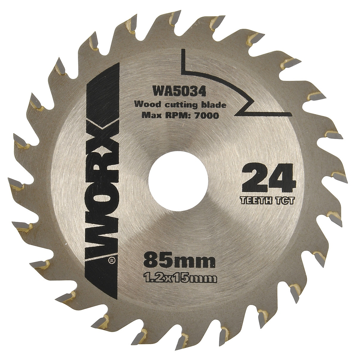 Hårdmetallklinga Worx 85 mm