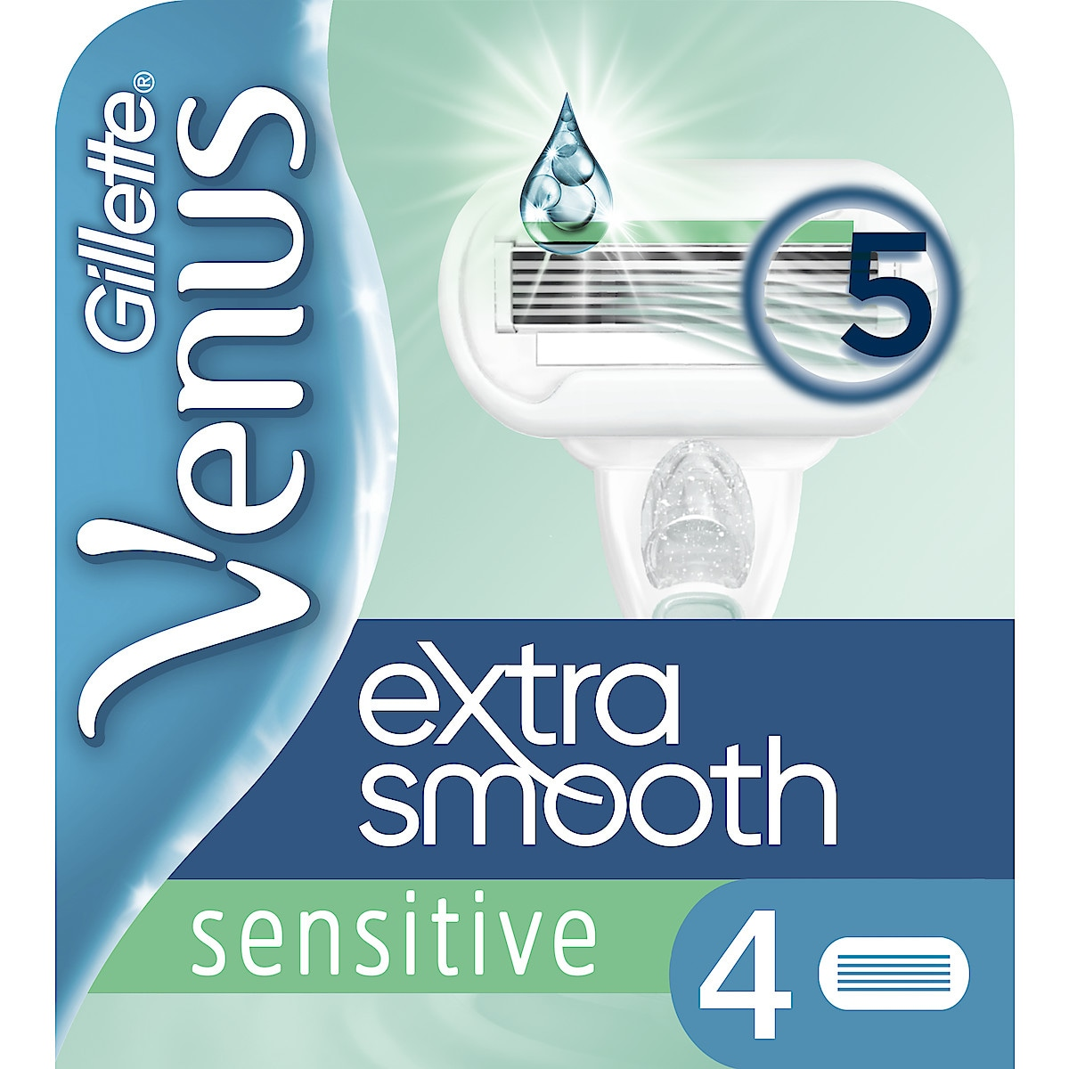 Rakblad Gillette Venus Extra Smooth Sensitive 4-pack