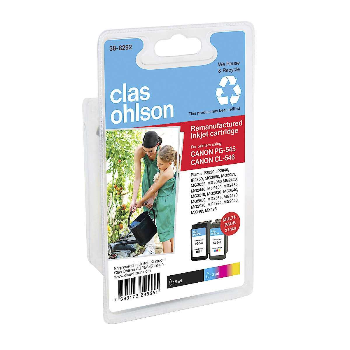 Clas Ohlson Canon PG-545/CL-546 Multipack Ink Cartridges