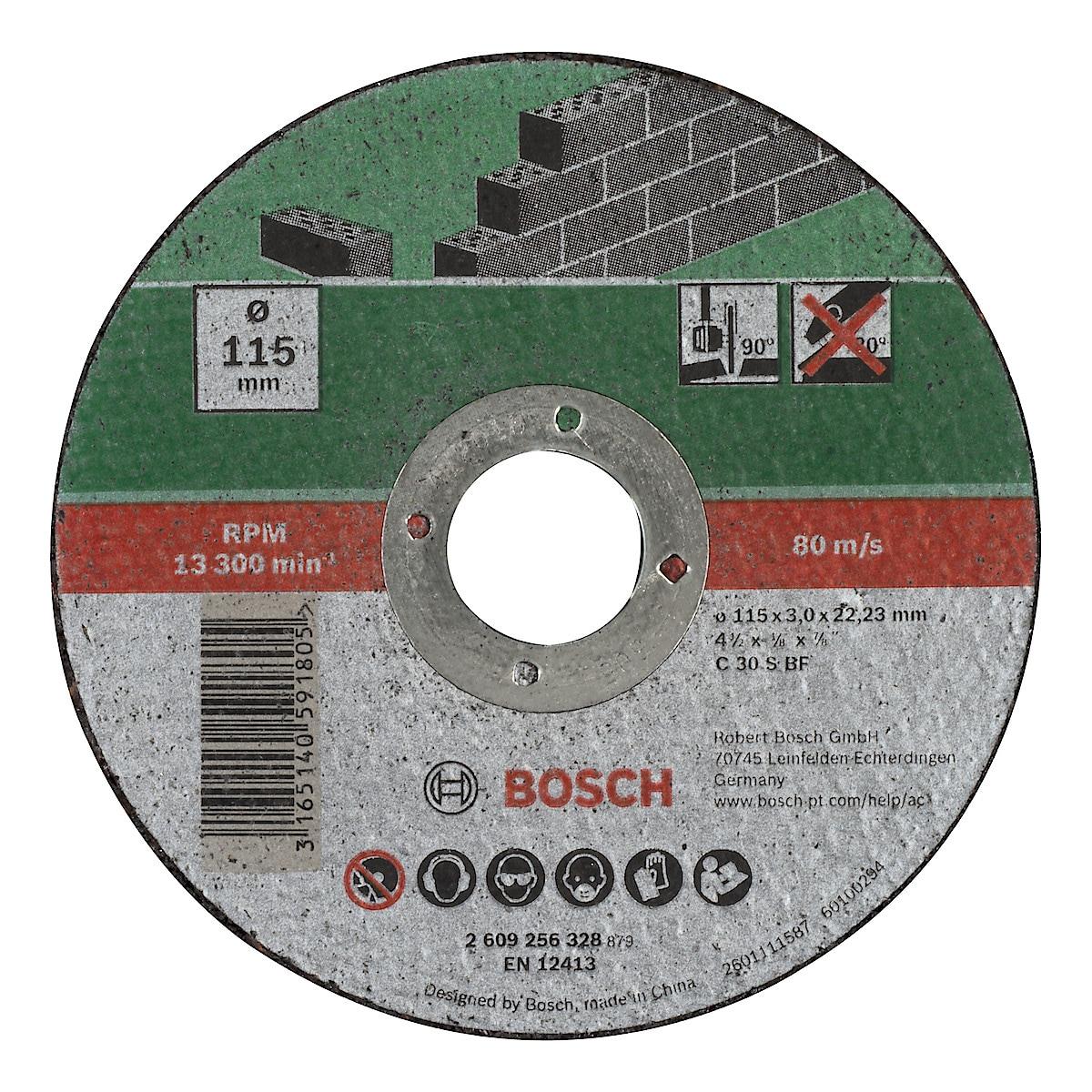 Kapskiva för sten 115 mm Bosch