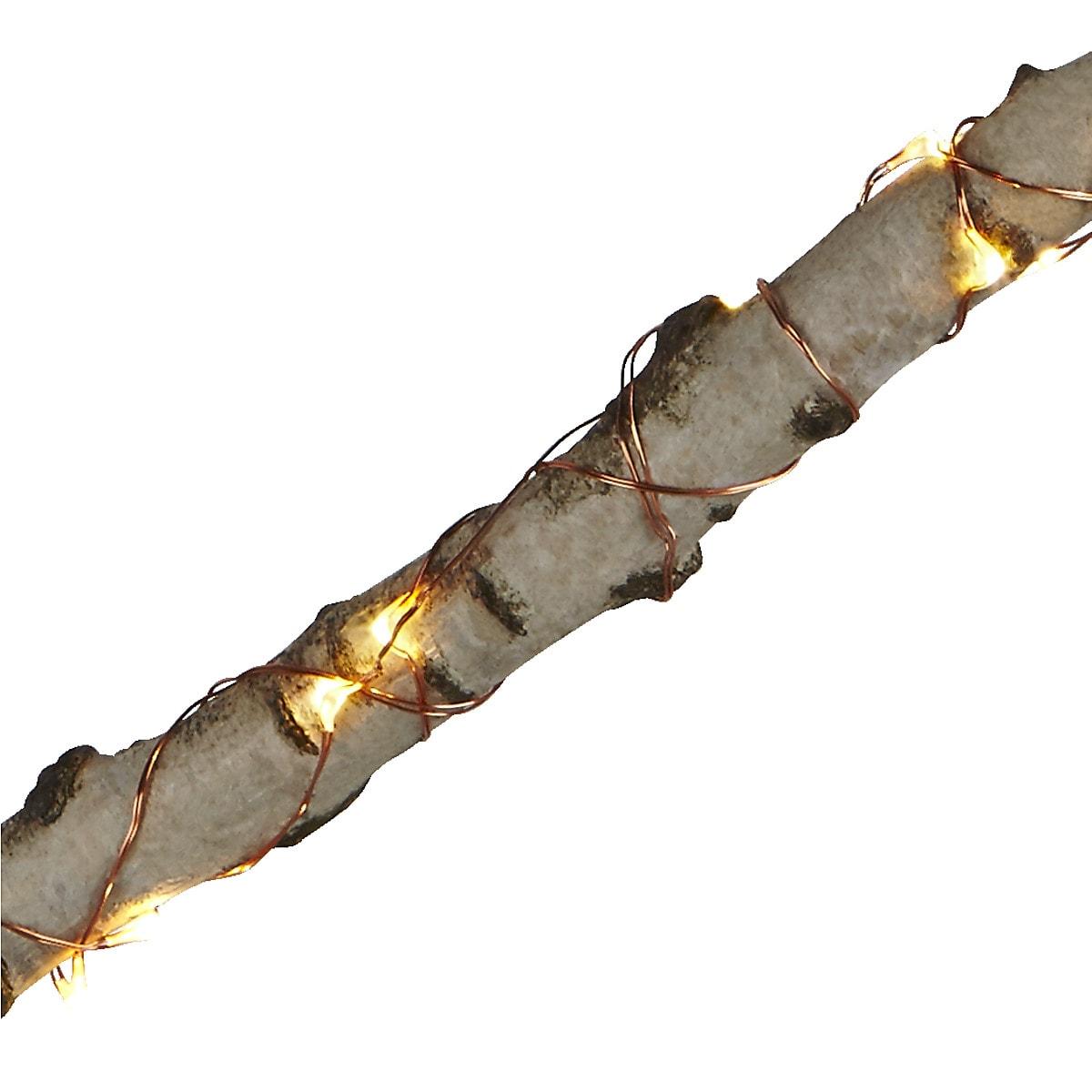 Paristokäyttöinen valoketju metallia