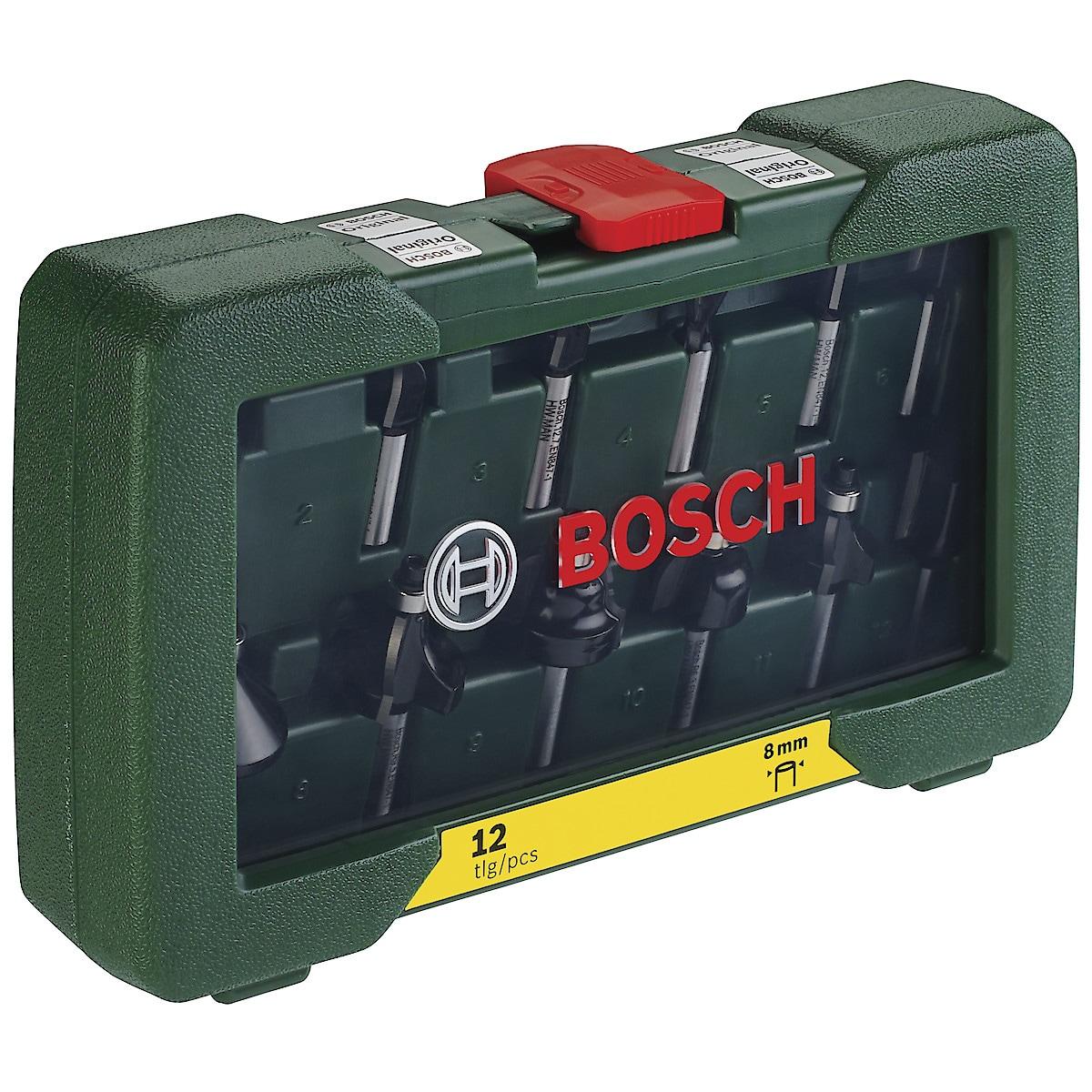 Fräsar Bosch, 12 delar