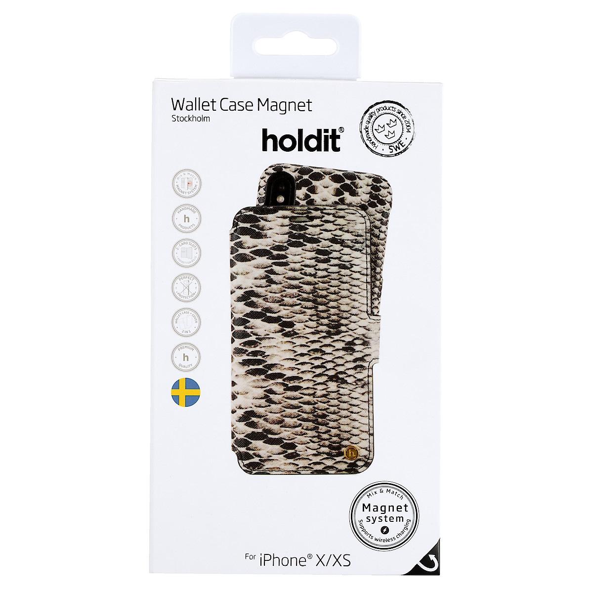 Plånboksfodral Stockholm för iPhone X/XS, Holdit