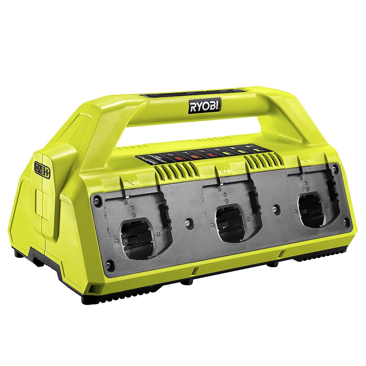 Batteriladdare för 6 batterier Ryobi RC18627