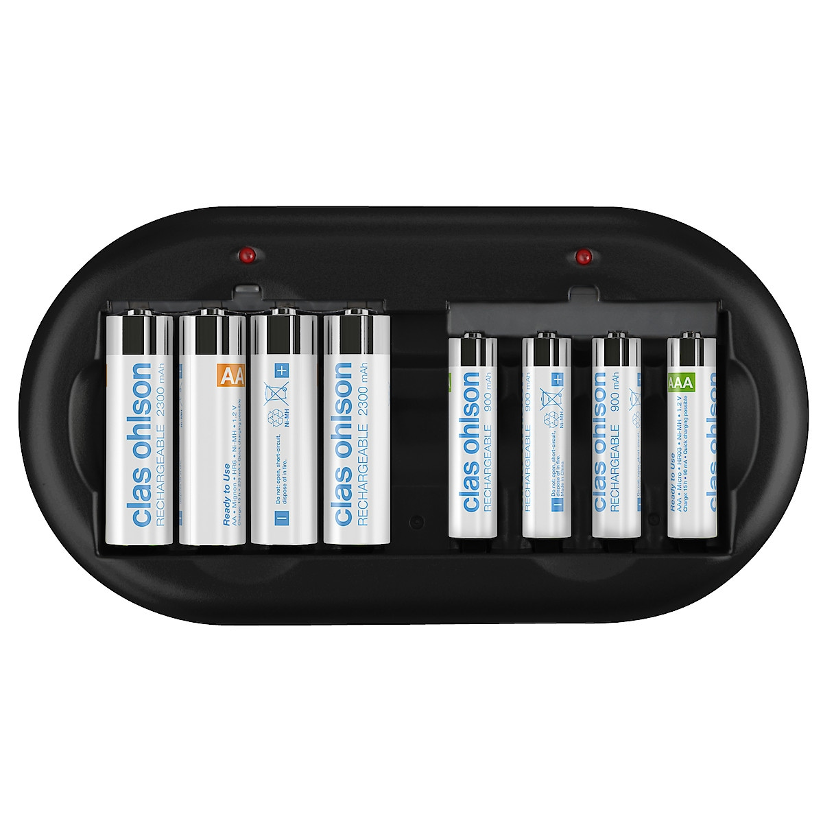 Batteriladdare med batterier