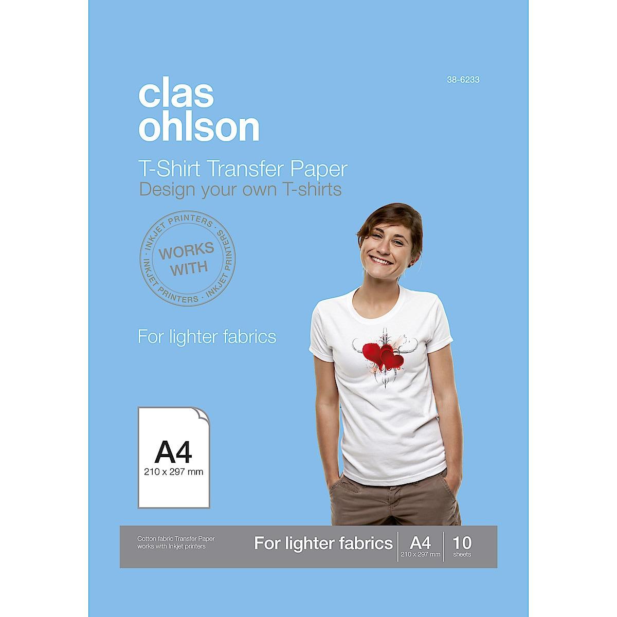 T-shirtpapper för vita/ljusa plagg Clas Ohlson