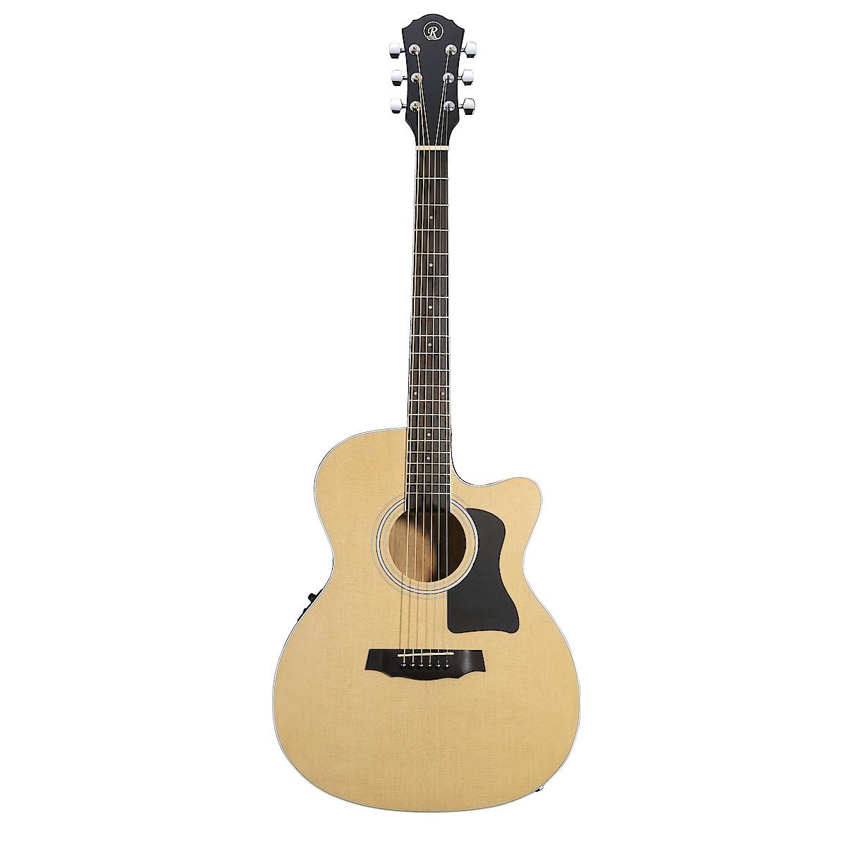 Akustinen kitara, jossa teräskielet ja mikrofoni, Rivertone