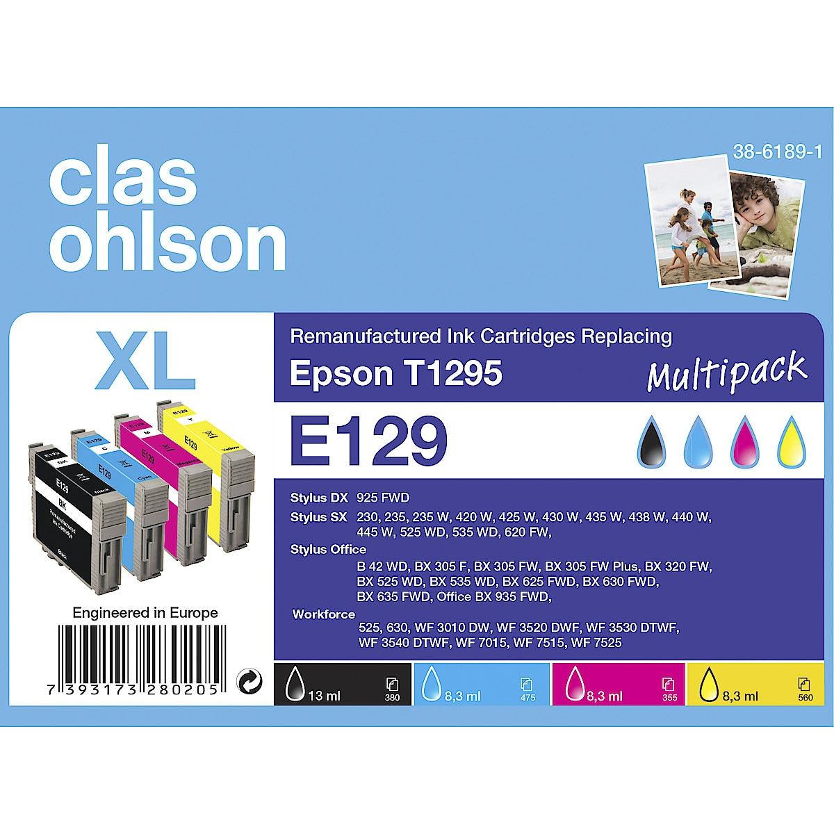 Bläckpatron Epson T1295, Clas Ohlson