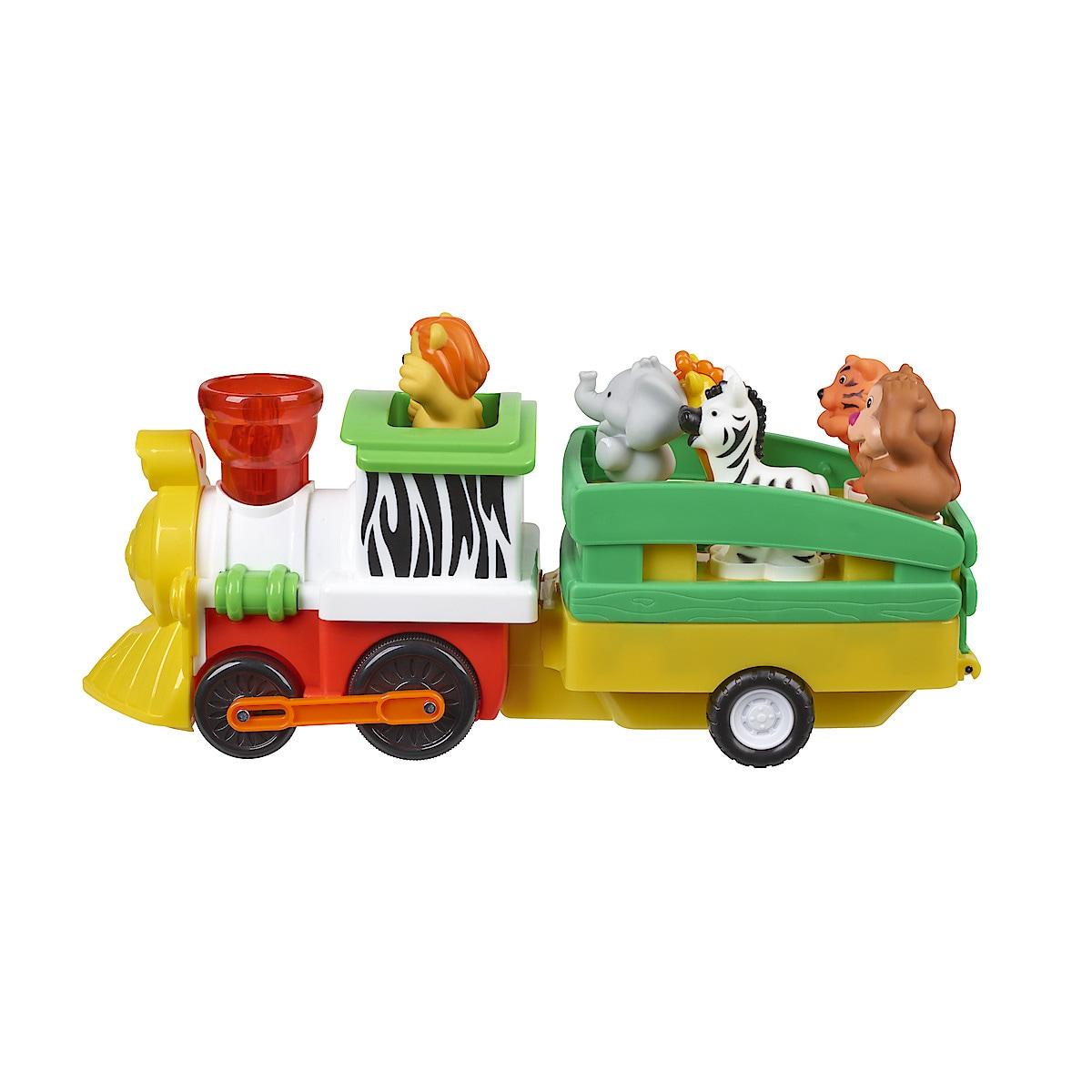 Tåg med djungeldjur