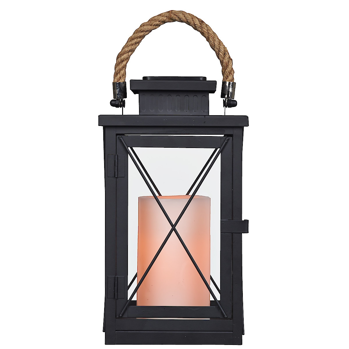 Solar Lantern with Pillar Candle