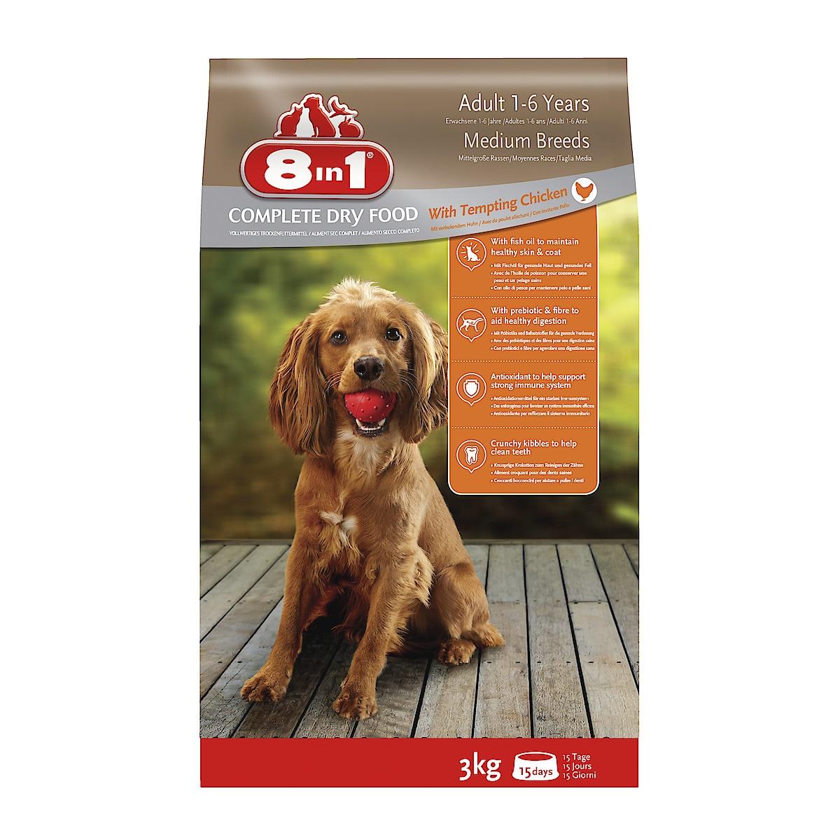 Hundfoder Adult Chicken 8in1