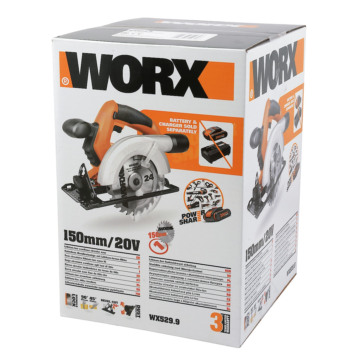 Worx WX529.9 sirkelsag