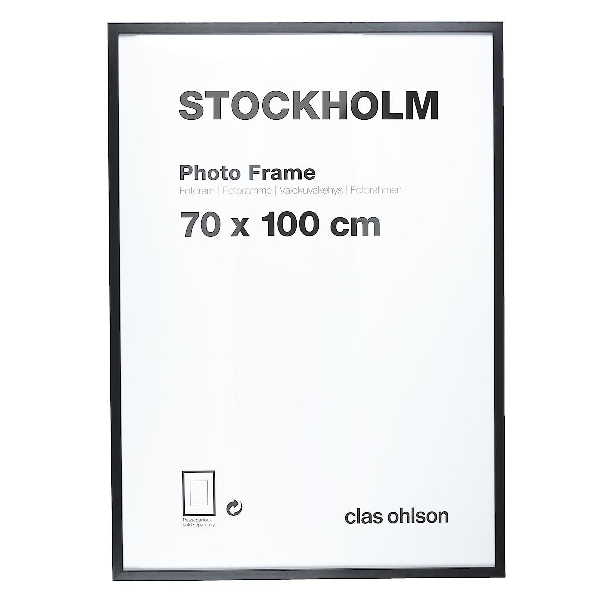Fotoram Stockholm svart
