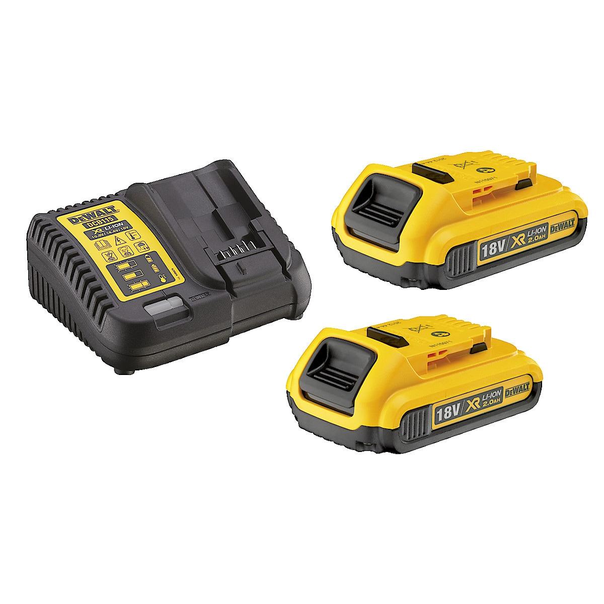 Batterier och laddare Dewalt XR DCB115D2