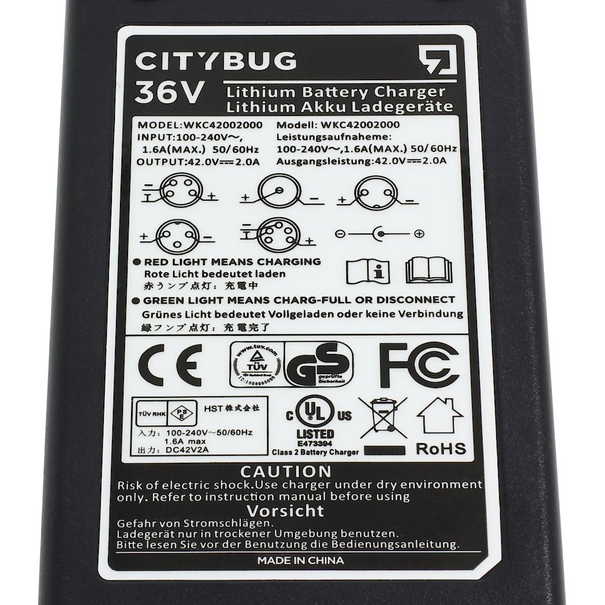 Lader Citybug 36 V | Clas Ohlson
