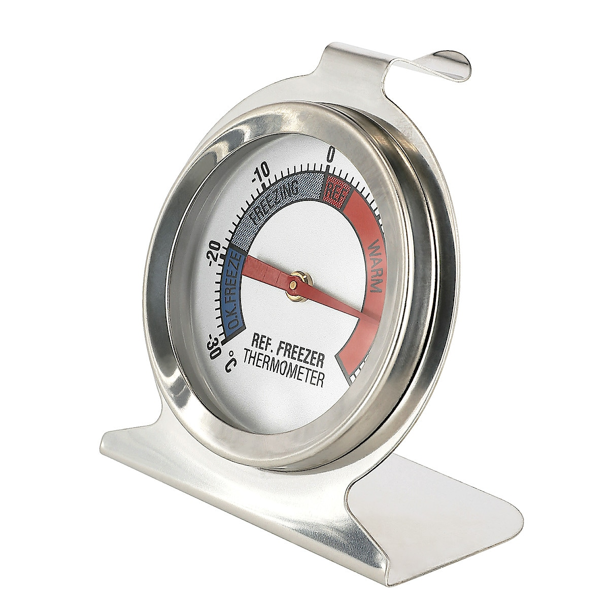 Kyl- och frystermometer rostfritt stål