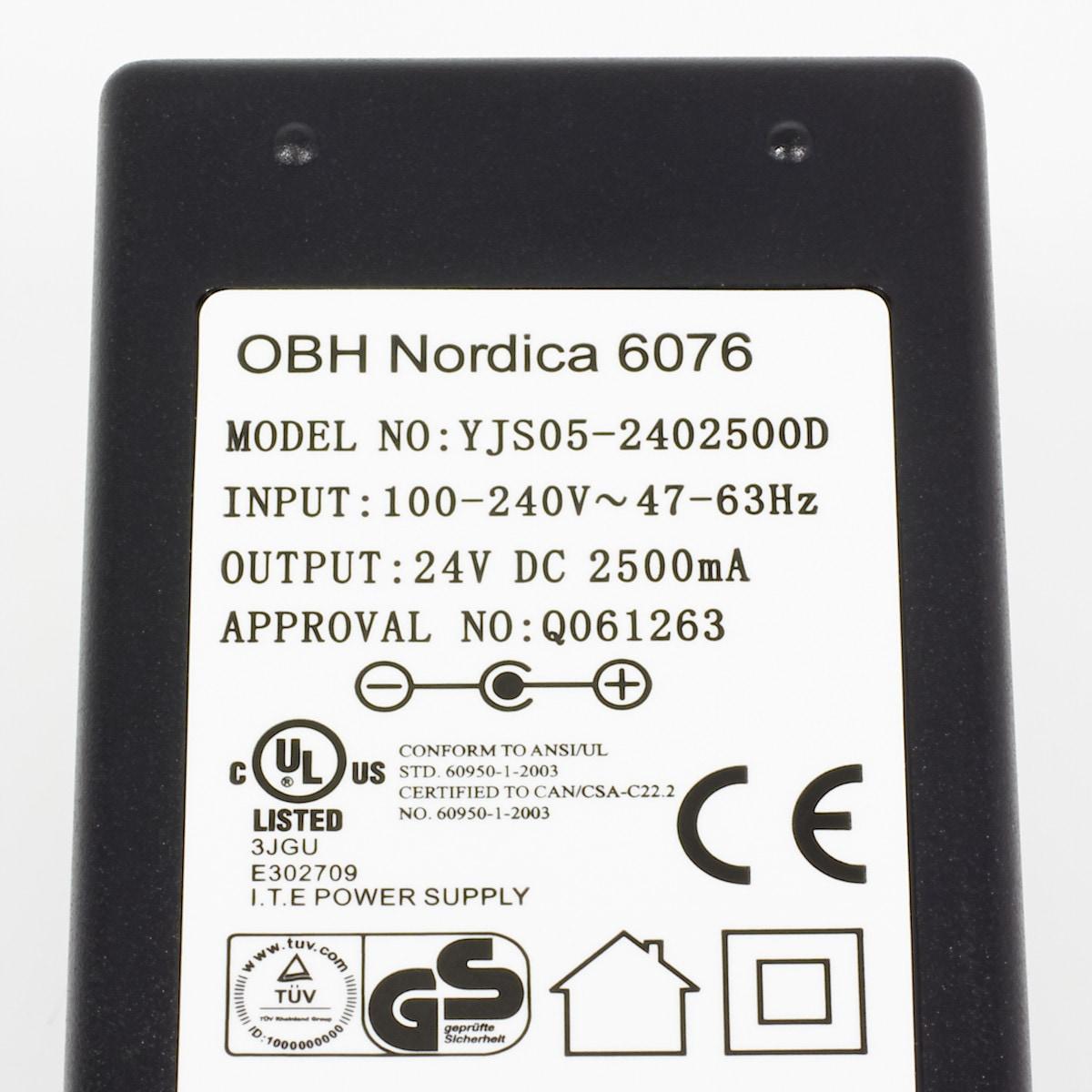 Nettadapter OBH Nordica Shiatsu 6076