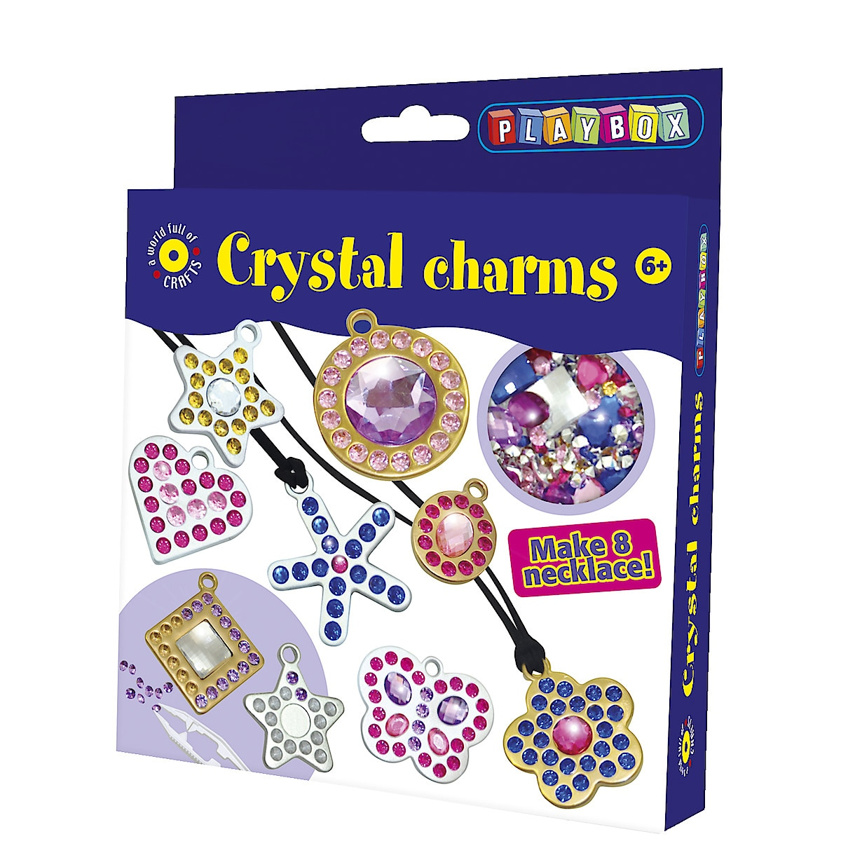 Pysselset halsband, kristallberlocker