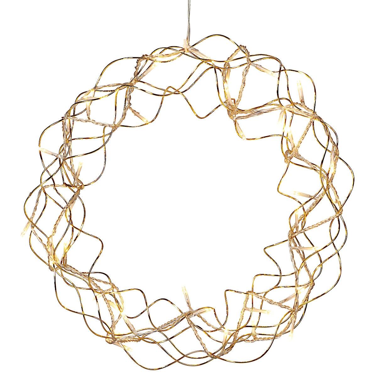 Krans med LED-ljusslinga