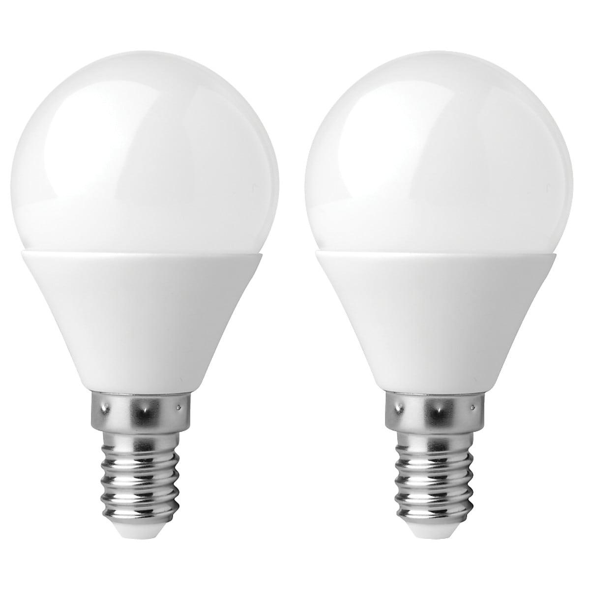 Klotlampa LED E14 Clas Ohlson 2-pack