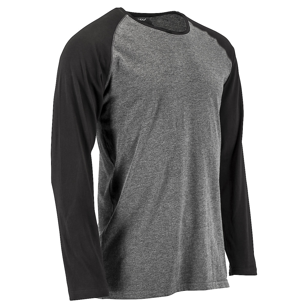 Långärmad t-shirt grå/svart