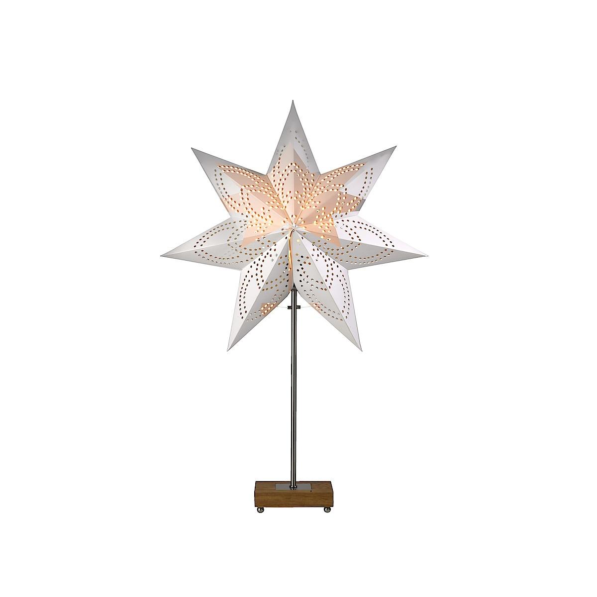 Lampa med stjärna och skärm