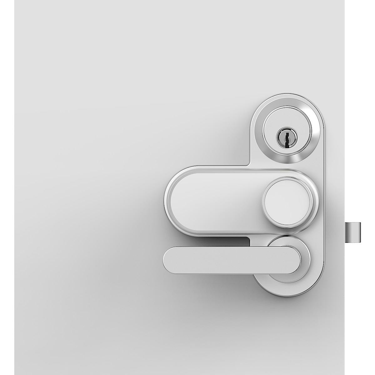 Elektroniskt ytterdörrlås Glue Smart Lock med Assa dörrplatta