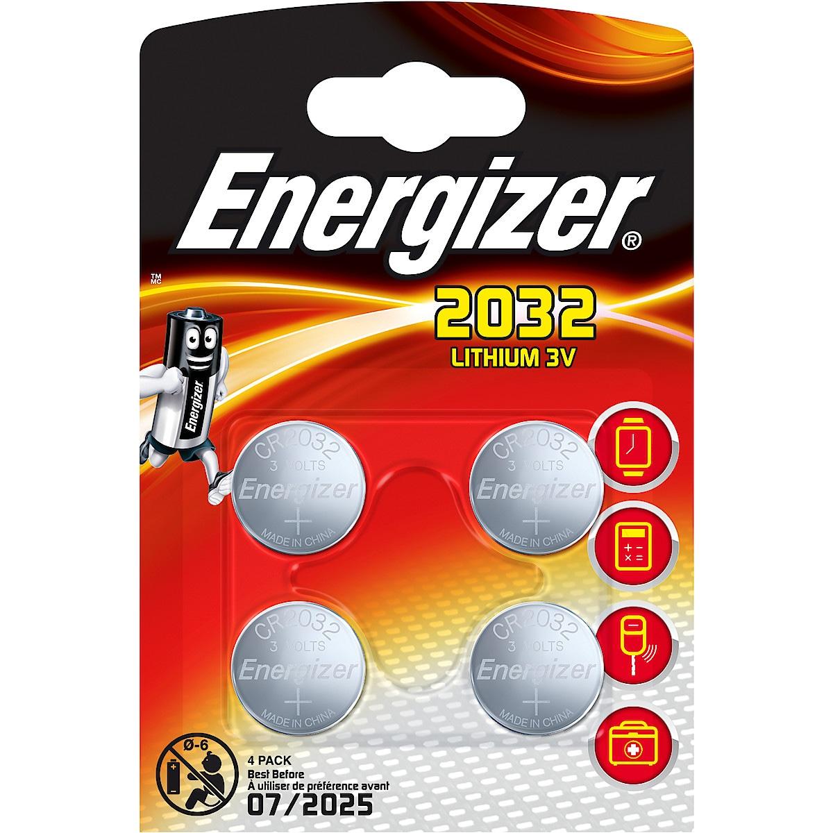 Energizer litiumbatteri CR2032 4 pk