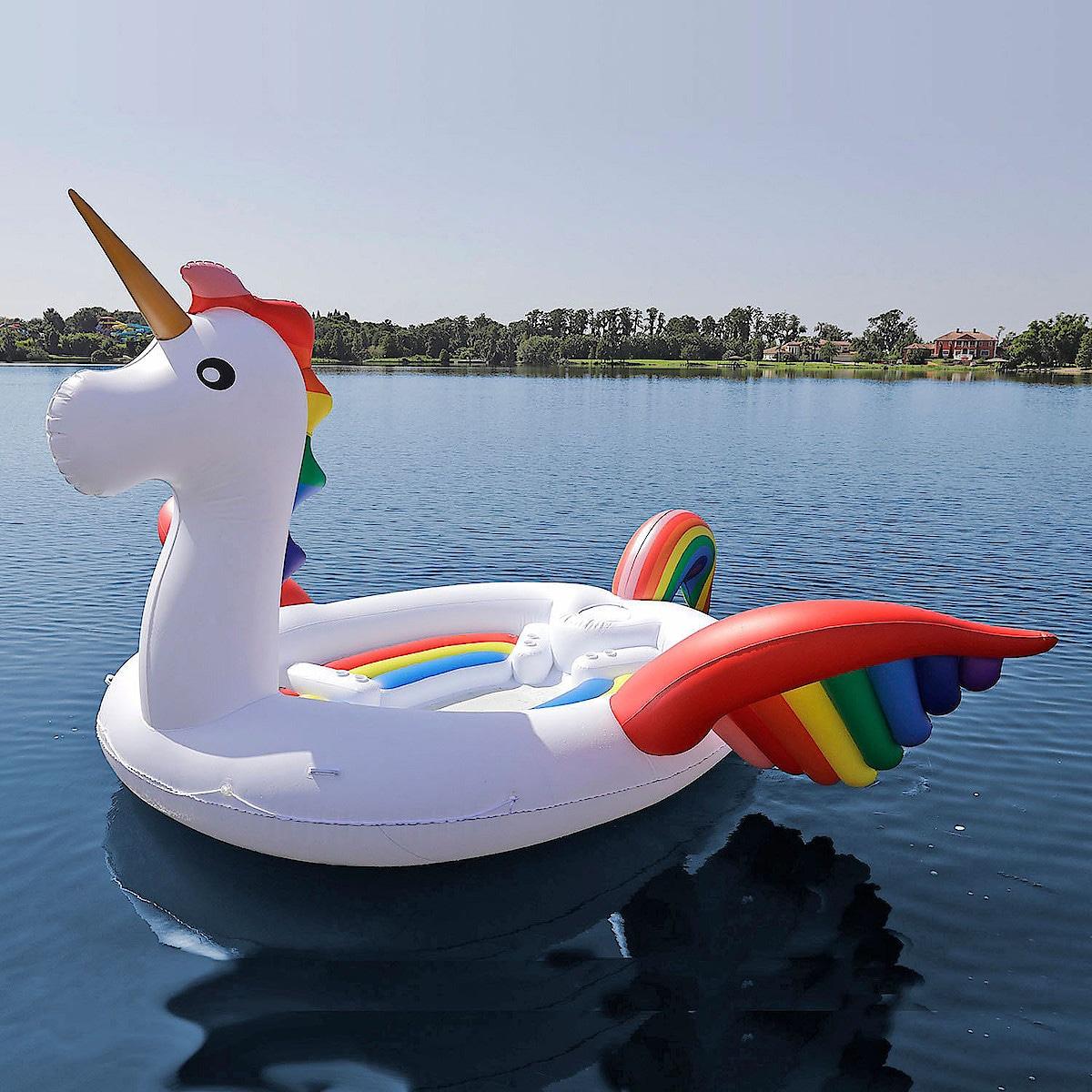 Uppblåsbar flotte Mega Unicorn