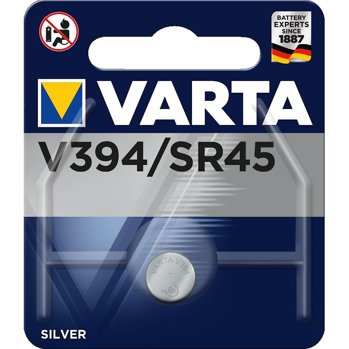 Knappcellsbatteri V394/SR45 VARTA