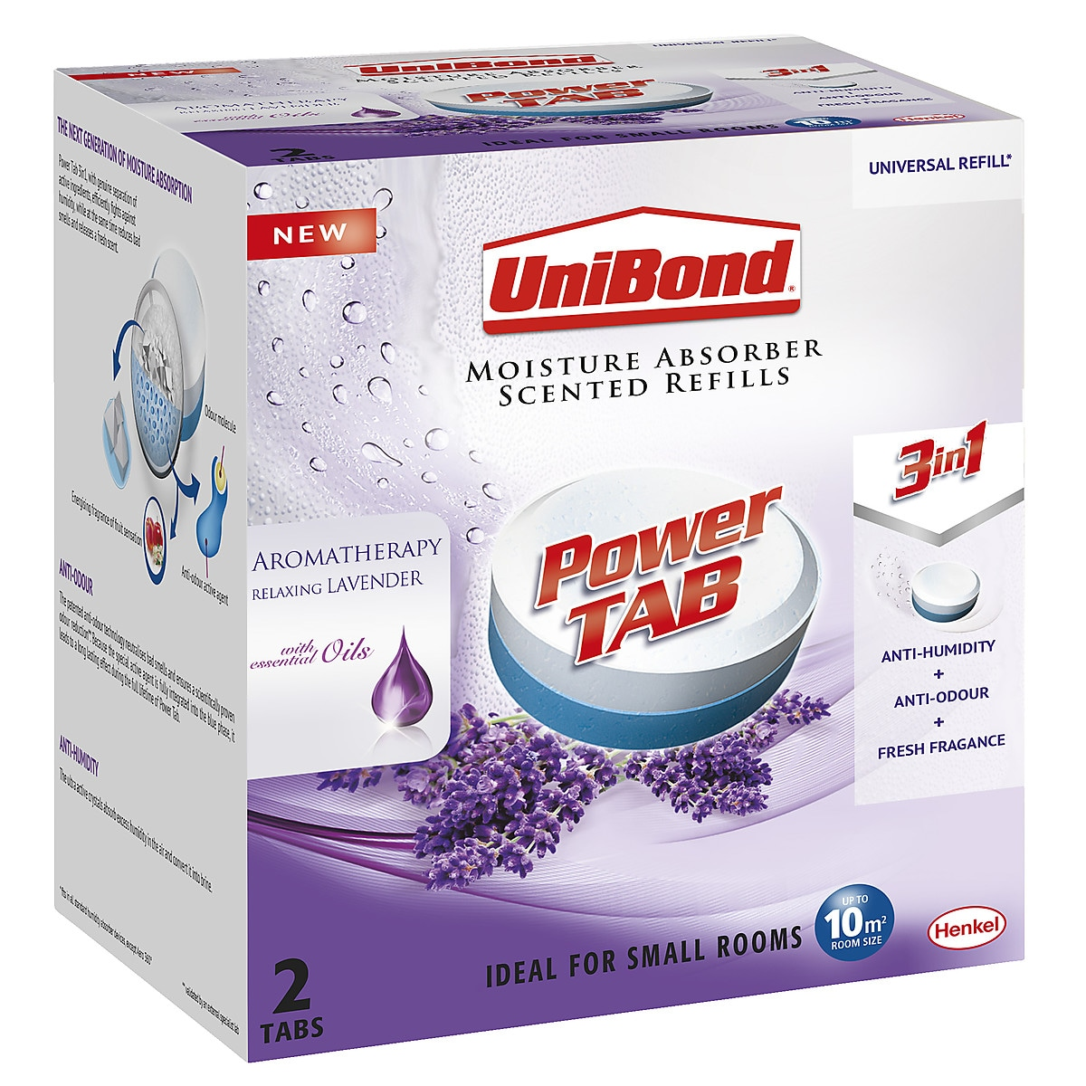 Unibond Pearl Scented Moisture Absorber Refill