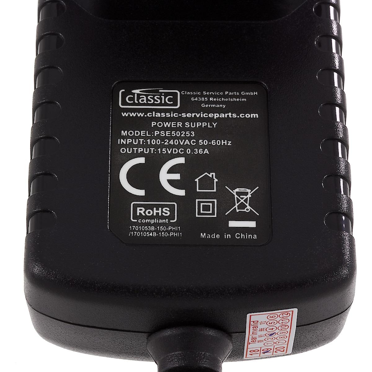 Philips HQ8505 lader, 15 V