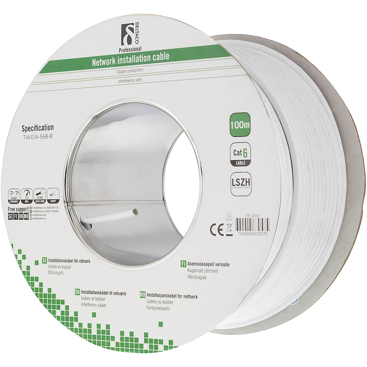 Deltaco CAT-6 100 m Network Cable