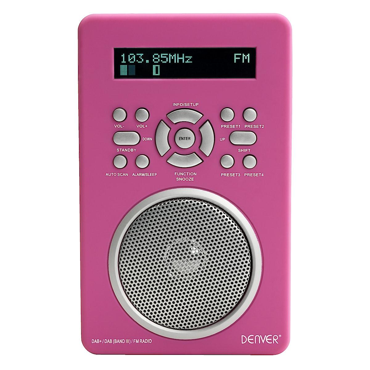DAB/FM-radio/MP3-högtalare Denver DAB-43C PLUS.