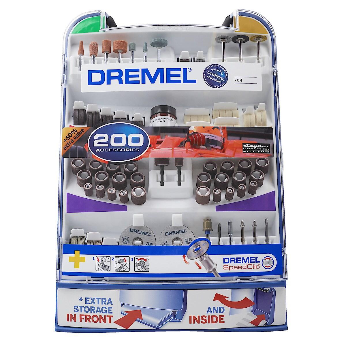 Lisätarvikesarja Dremel 200 osaa