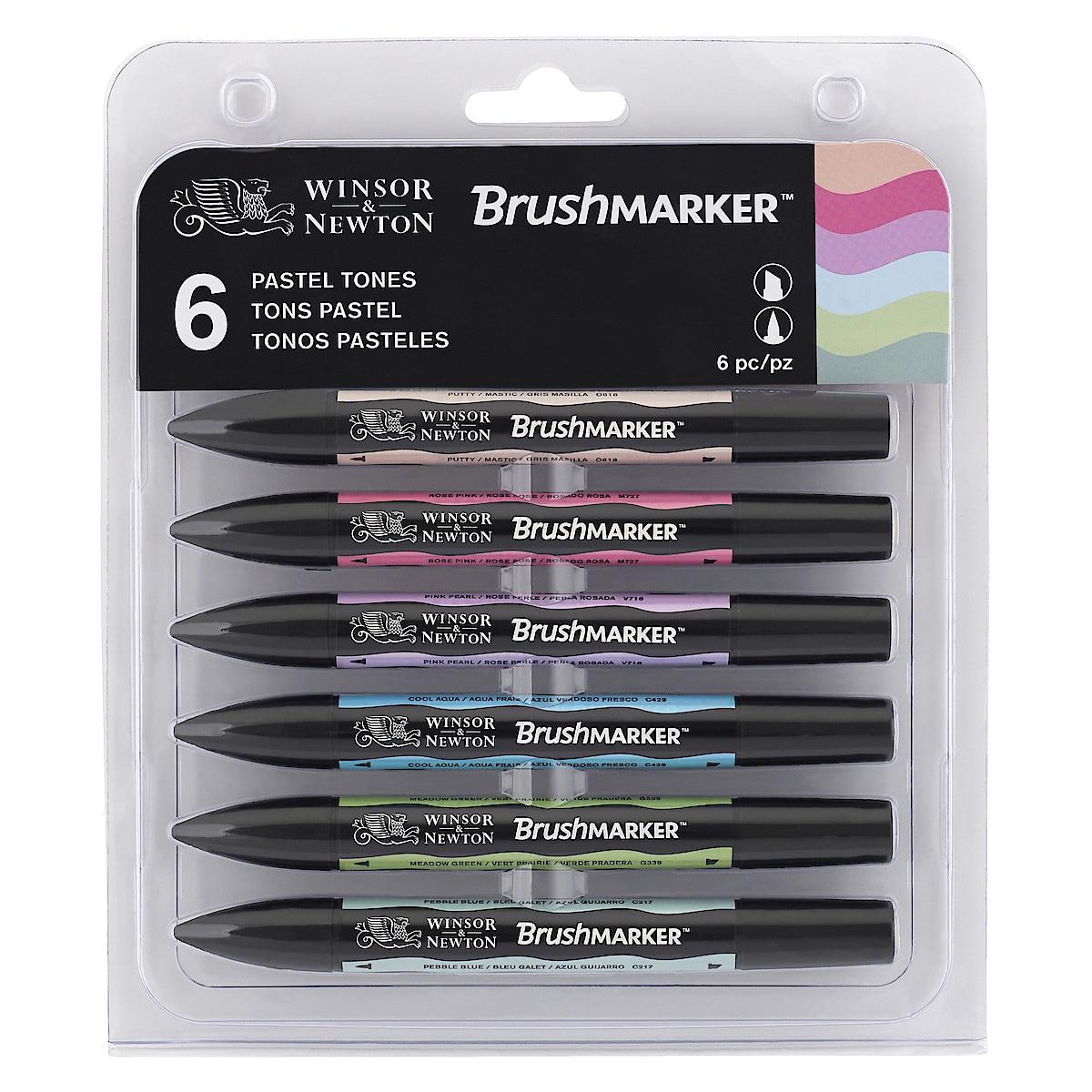 Filzstift Winsor & Newton BrushMarker Pastell 6er-Pack