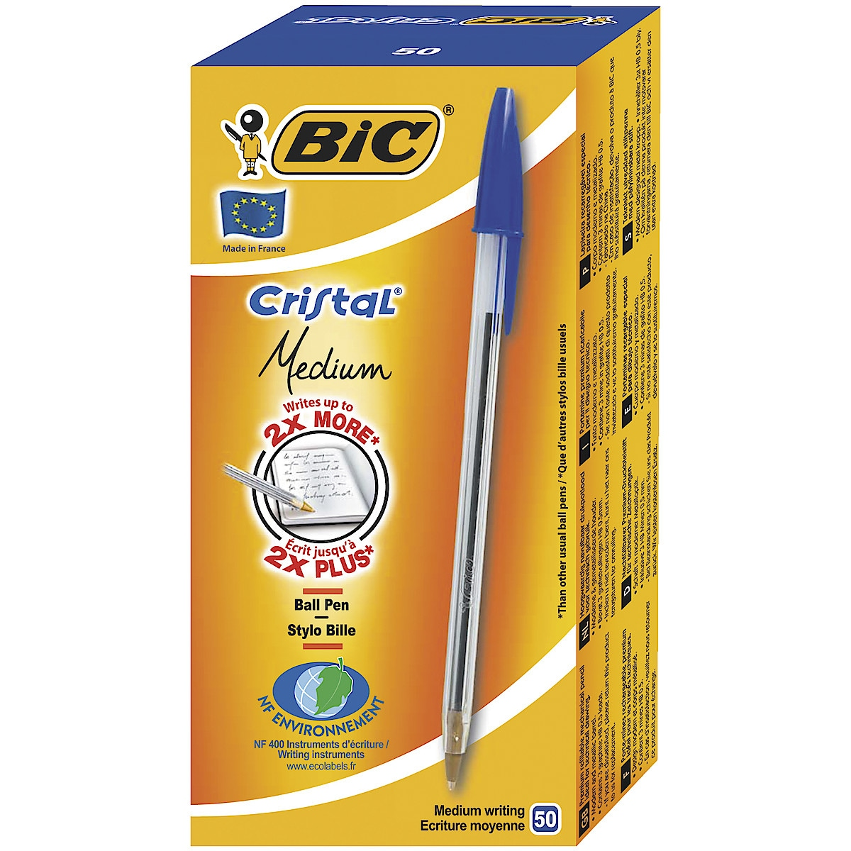 Bic Cristal Medium kulepenn, 50-pack