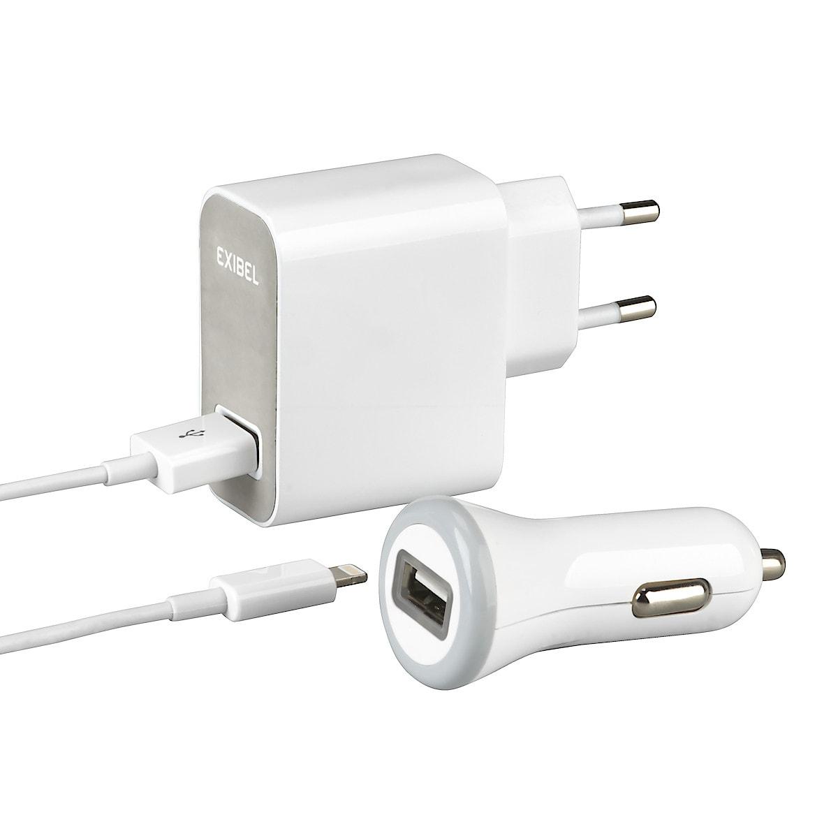 Lataustarvikesarja Lightning iPodille/iPhonelle/iPadille, Exibel